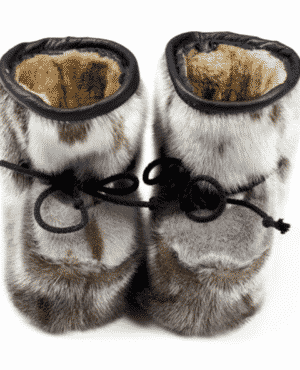 Seal skin baby shoes