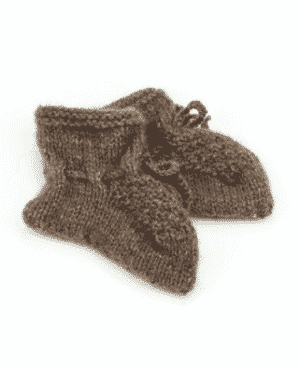 Hand-knitted baby shoes
