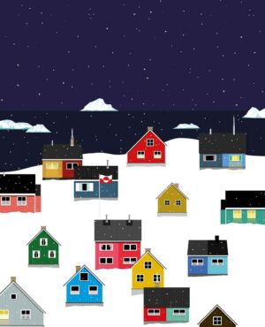 Greenland Winter Town Poster