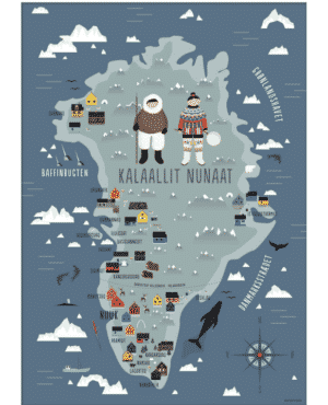 Greenland Map Poster
