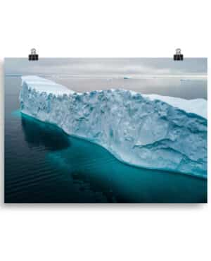 Floating Iceberg in Greenland Poster