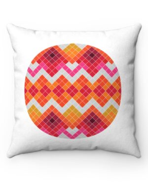 Pink and White Nuilarmiut Pillow