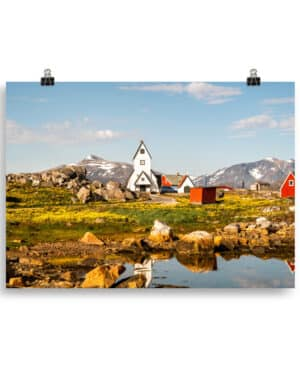 Summer in South Greenland Poster