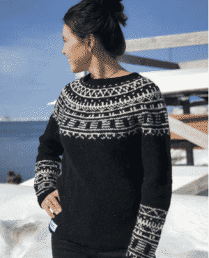 """Knitting pattern for the Inuit tattoo sweater """"Inuk"""""""