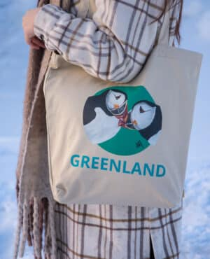 Eco Tote Bag with Puffins from Greenland